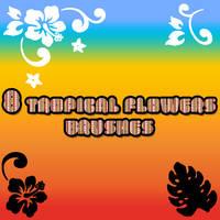 Tropical Flowers Brush by sara1elo