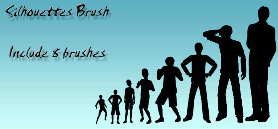 Silhouette Brush Pack by sara1elo