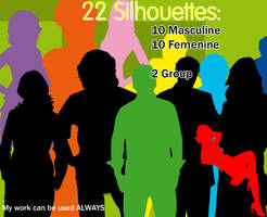 22 Silhouette Brushes by sara1elo