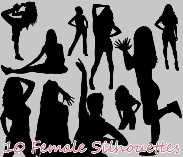 10 Female Silhouettes
