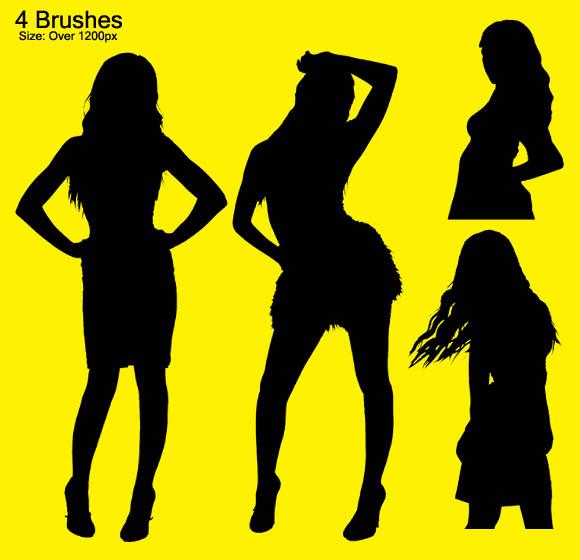 4 Female Silhouettes