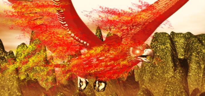 Giant Firebird Legend Of Sislona Island