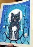 Blue Moon Werewolf - animated shiny gif