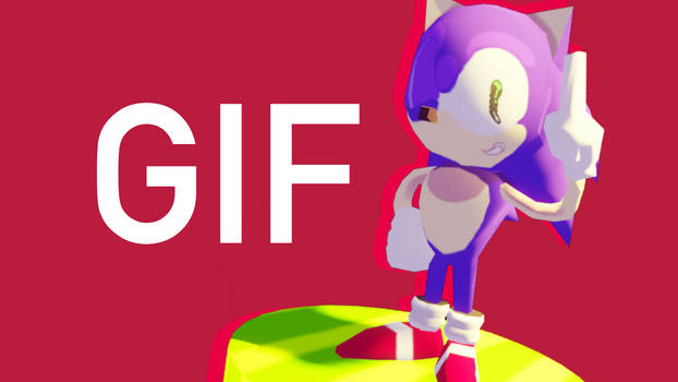 Sonic The Hedgehog Lowpoly 3D Model