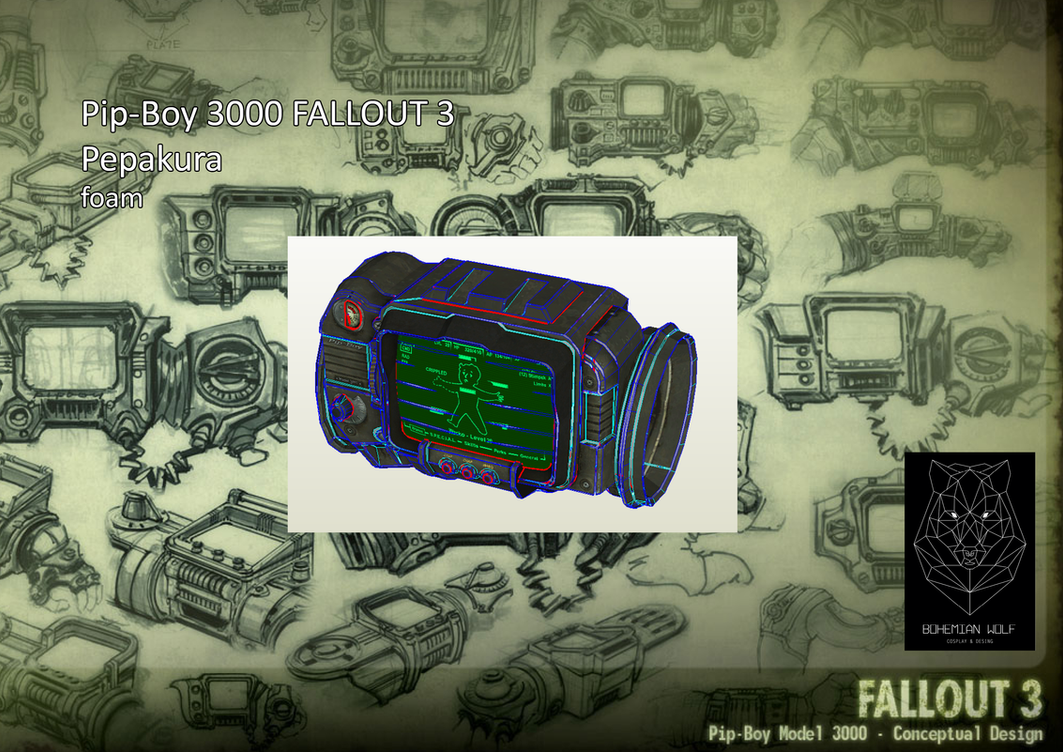 Pipboy Fallout 3pepakura Foam by BohemianWolfDownlod on DeviantArt