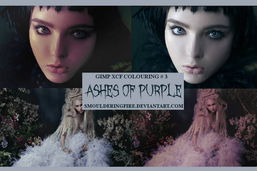 GIMP XCF Colouring 03 / Ashes of Purple