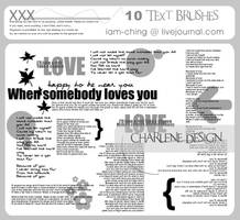 Text Brushes set 01 by forpumpkin