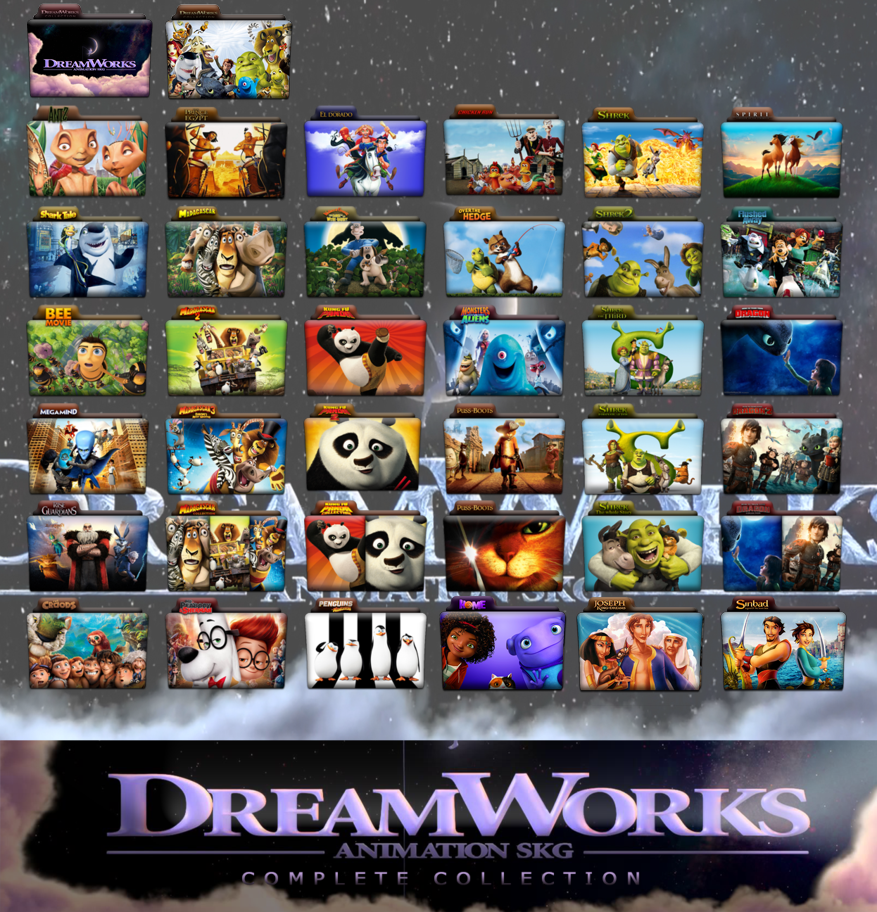Dreamworks Animationplete Folder Icon Pack By Wchannel96