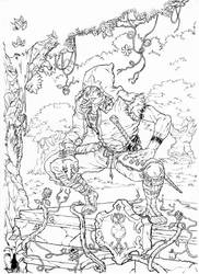 Forest Warrior by shinkatana