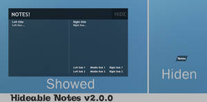 Hideable Notes 2.0.0