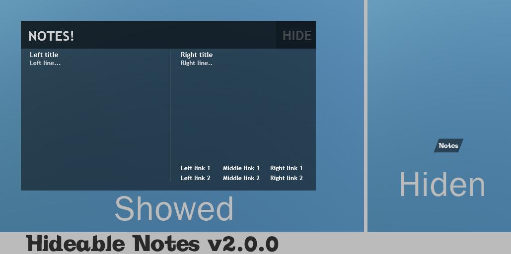 Hideable Notes 2.0.0 by jimmyl0l3c