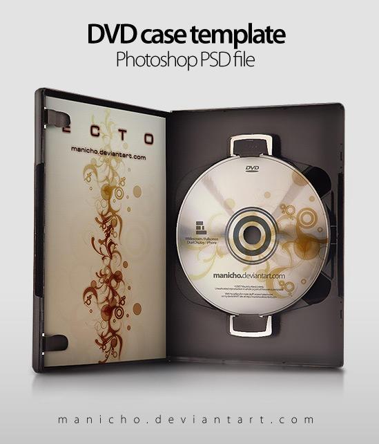 DVD,CDの無料のPSDテンプレート