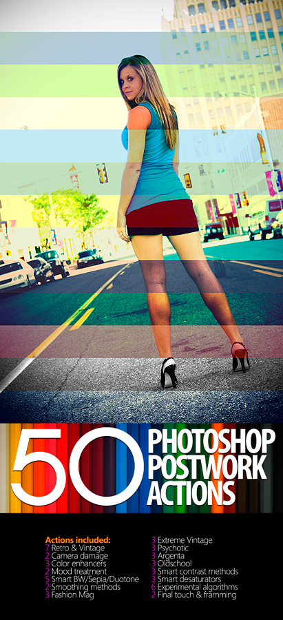 50 Photoshop Postwork Actions