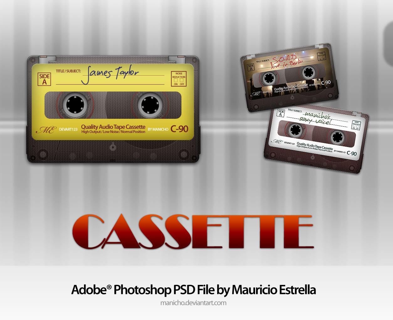Cassette - PSD File by manicho