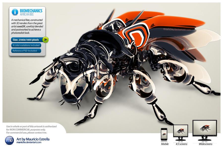 Bee-Bot - Wallpaper Pack by mauricioestrella
