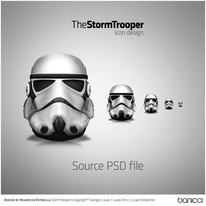 StormTrooper Icon - PSD file