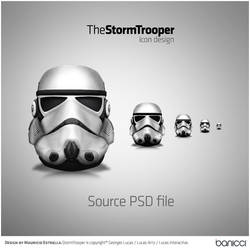 StormTrooper Icon - PSD file