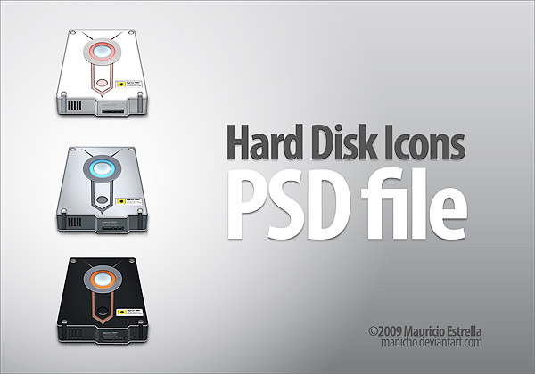 Hard Disk Icons - PSD