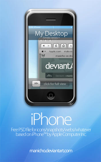 iPhone PSD file - Updated by mauricioestrella