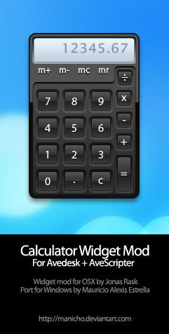 Jonas' Calculator for Avedesk by mauricioestrella