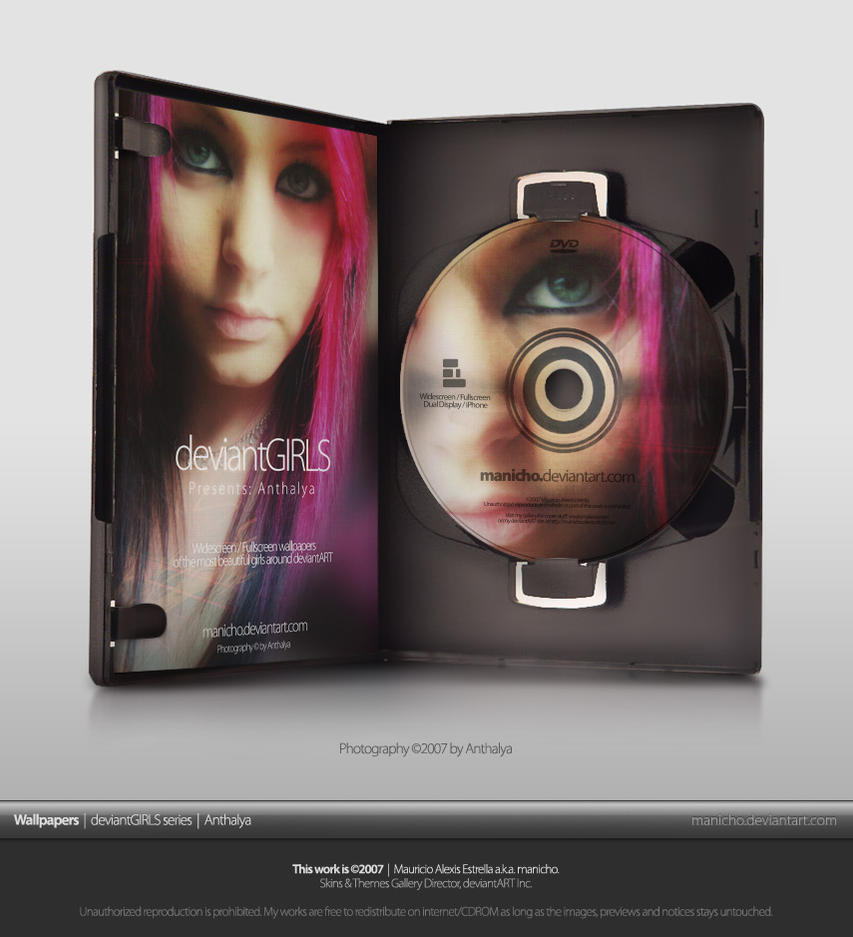 DeviantGirls Anthalya 20 Free CD & DVD Cases PSD Templates