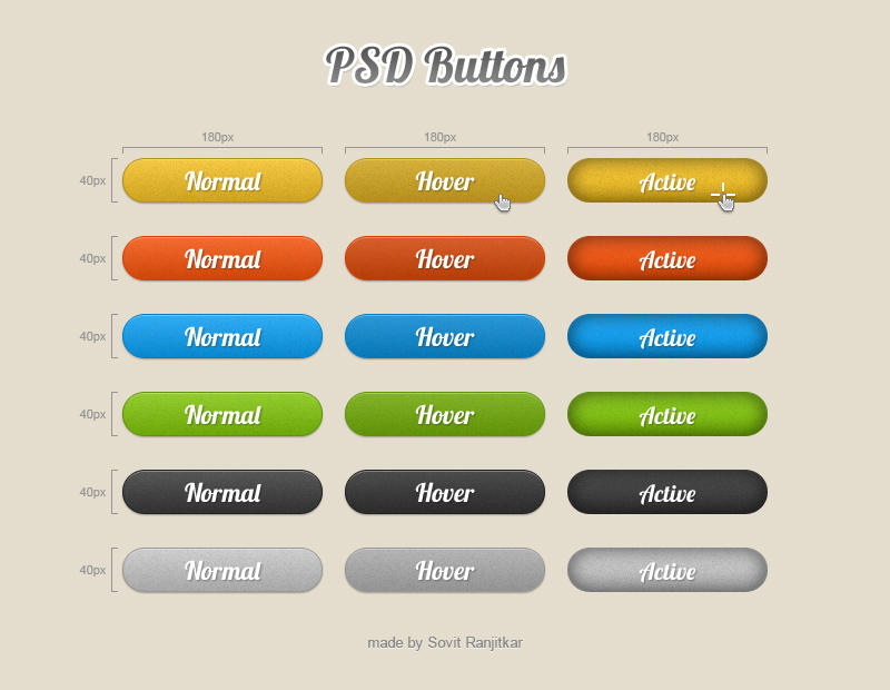 Free High Quality PSD Buttons by gps816