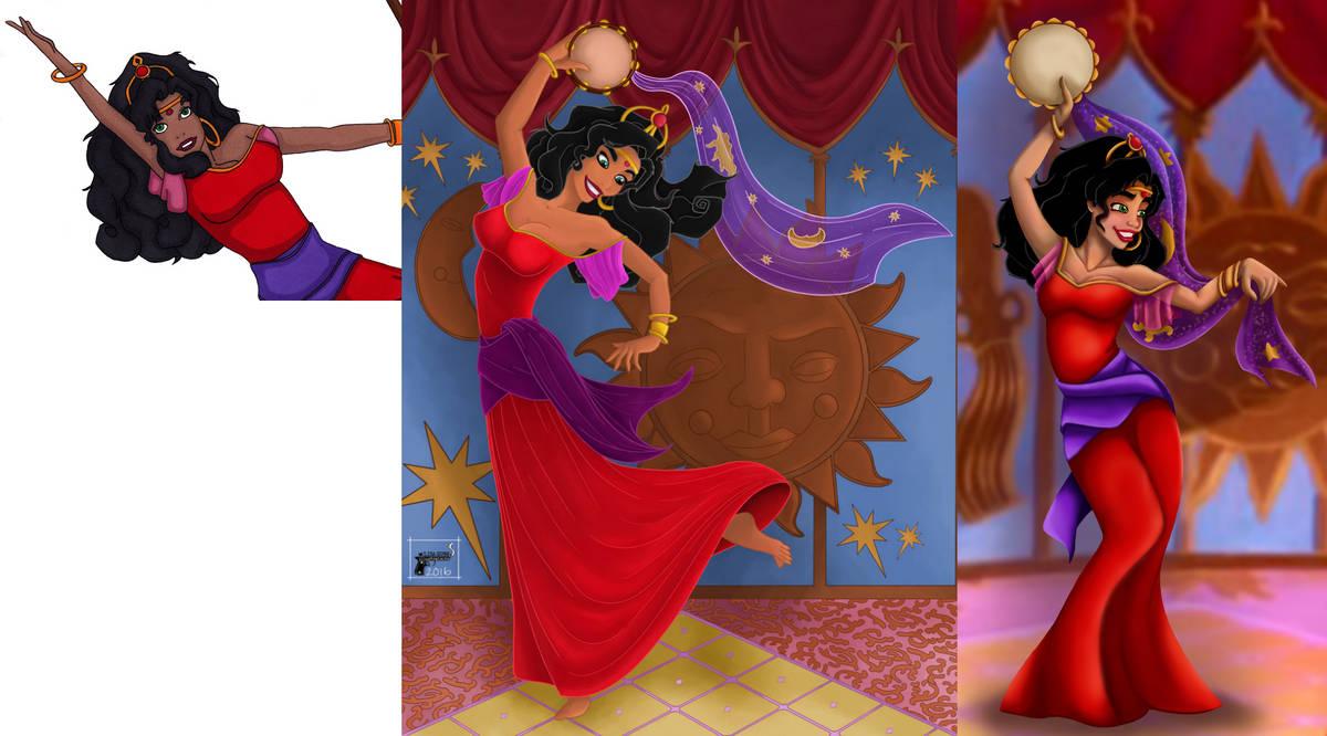 My Progression of Esmerala by LisaGunnIllustration