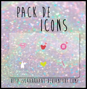 Pack de icons by laaaraaa1