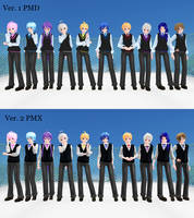 [MMD] Tda School Boys DL by Reineru-kun