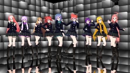 [MMD] TDA School girls (x9 models Pack) DL by Reineru-kun