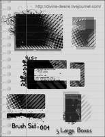 PS7 brushes grunge boxes by RebeccaCallaway