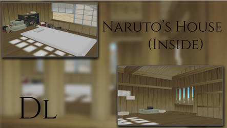 MMD Naruto House (Inside) DL by leaopardheart