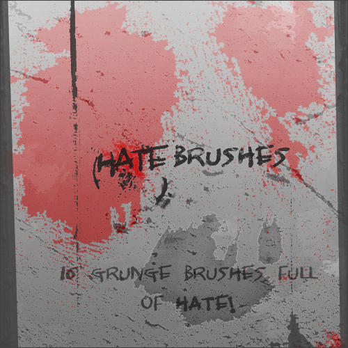 Hate Brushes for PS 7+ by ~malte06 Hate_Brushes_for_PS_7__by_malte06