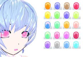 MMD Crystal Eye Texture by Xoriu