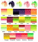 MMD Fruit Hair Texture