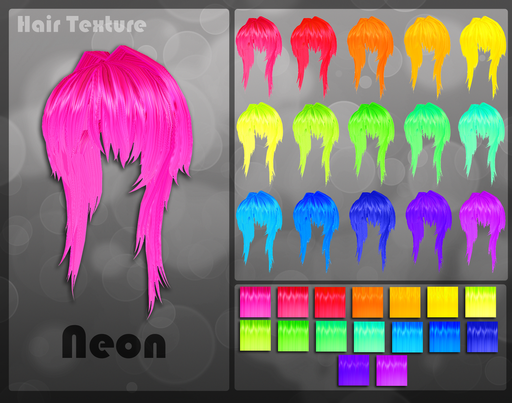 MMD Neon Hair Texture by Xoriu