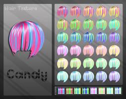 MMD Candy Hair Texture by Xoriu