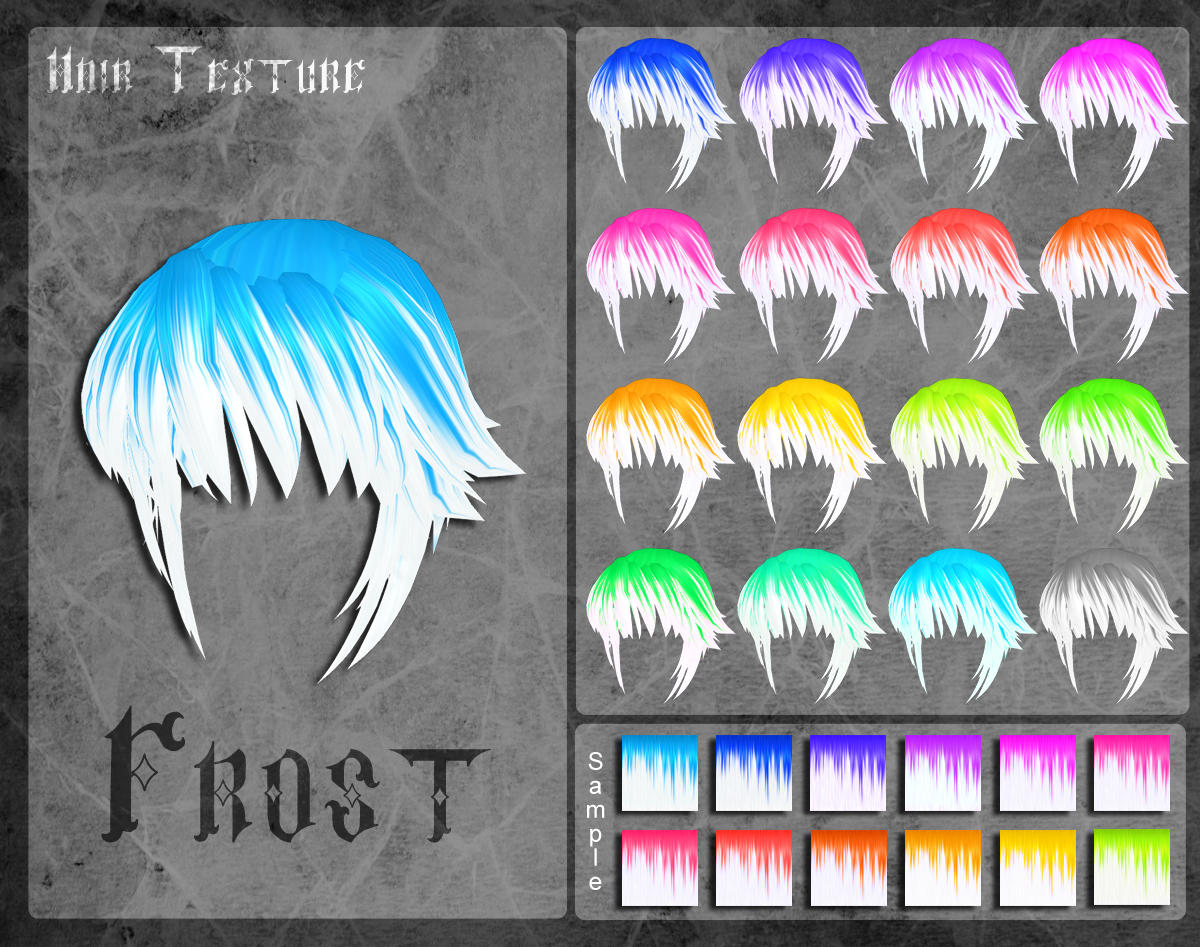 MMD Frost Hair Texture by Xoriu