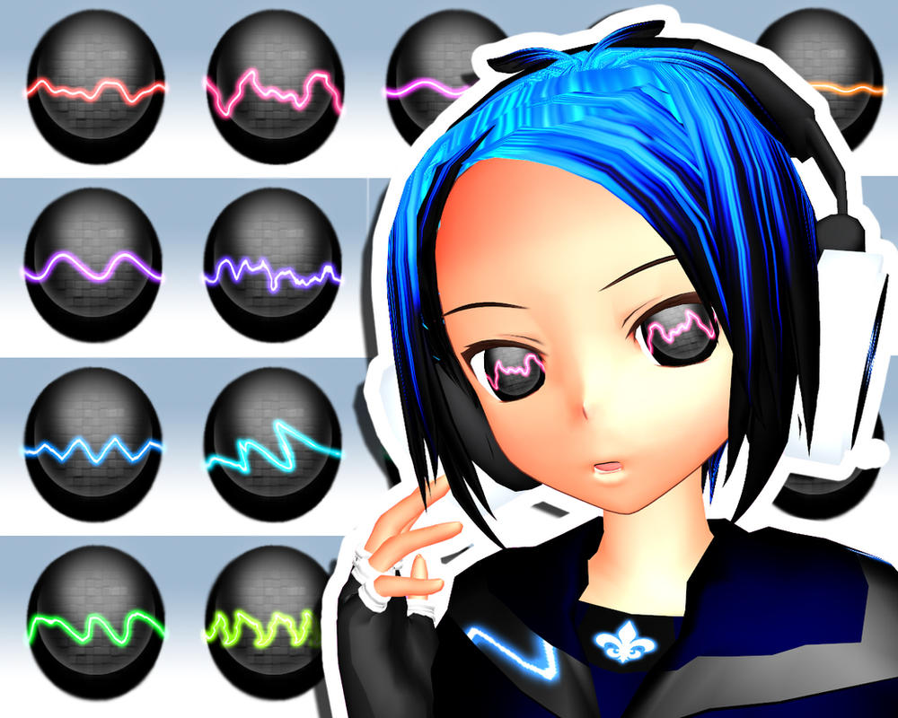 MMD Soundwave Eye Texture by Xoriu