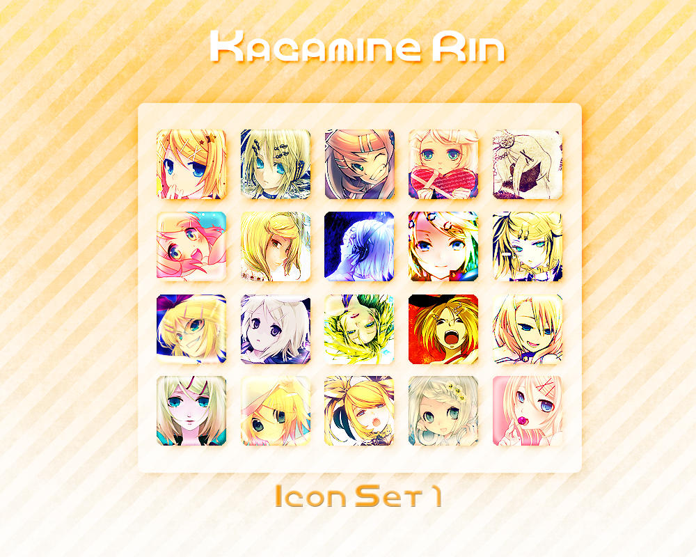 Kagamine Rin Icon Set 1 by Xoriu