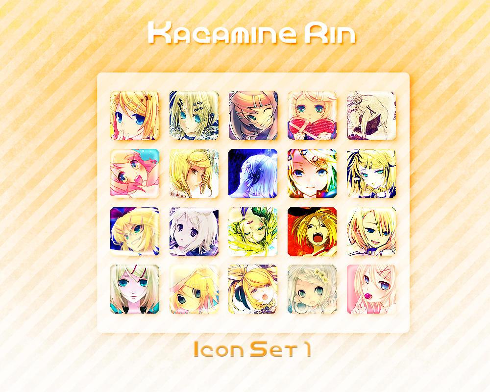 Kagamine Rin Icon Set 1 by Xoriu