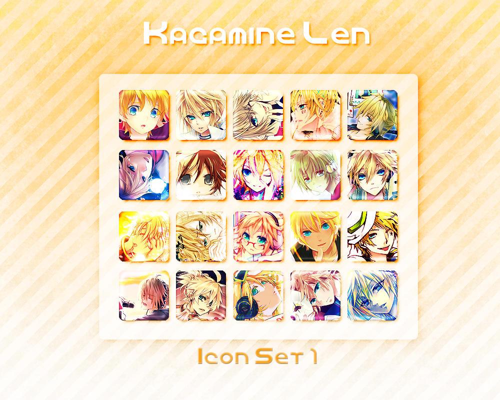 Kagamine Len Icon Set 1 by Xoriu