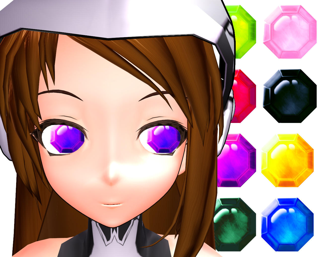 MMD Gemstone Eye Texture by Xoriu