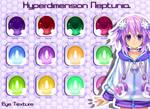MMD Hyperdimension Neptunia Eye Texture
