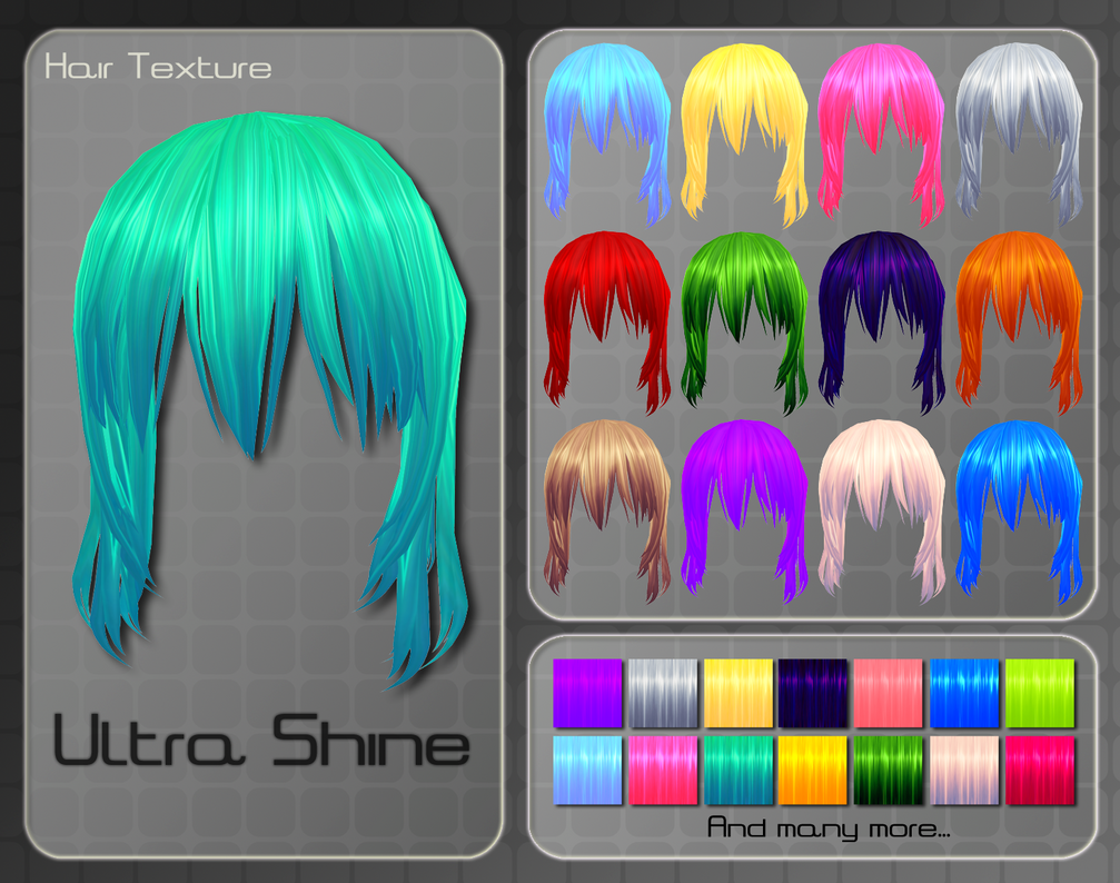 MMD Ultra Shine Hair Texture by Xoriu