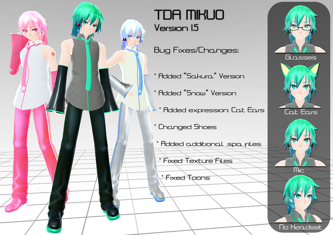 TDA Mikuo DL (including Sakura and Snow) by Xoriu
