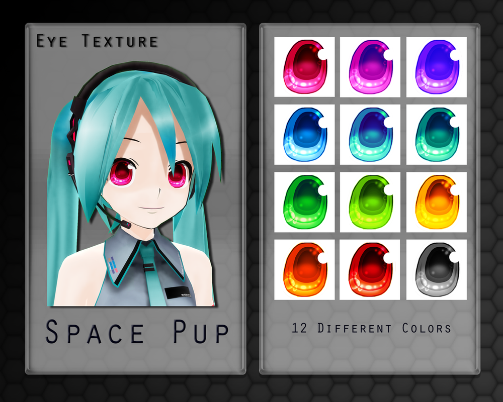 MMD Space Pup Eye Texture by Xoriu