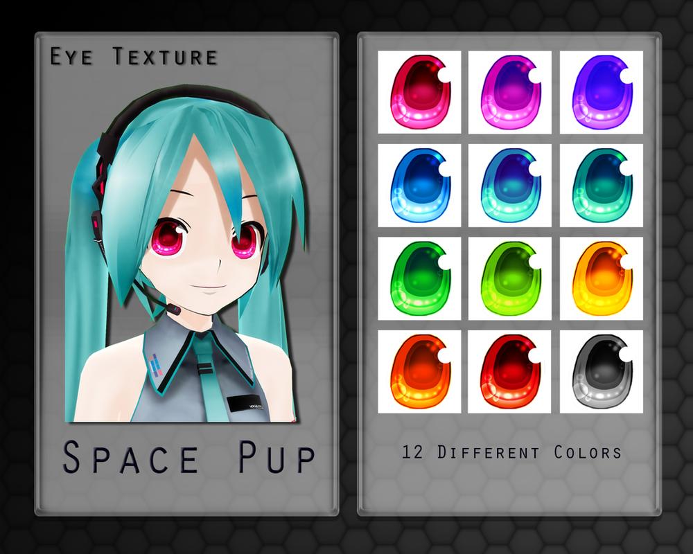 MMD Space Pup Eye Texture by Xoriu
