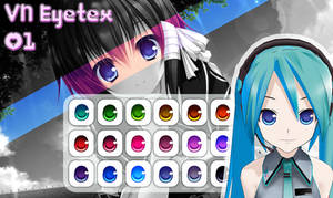 MMD Visual Novel Eye Texture 1 by Xoriu