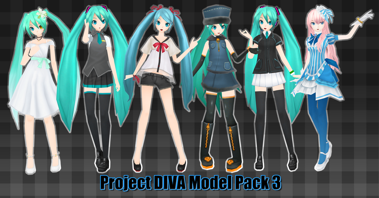 Project DIVA Model Pack 3 DL by Xoriu
